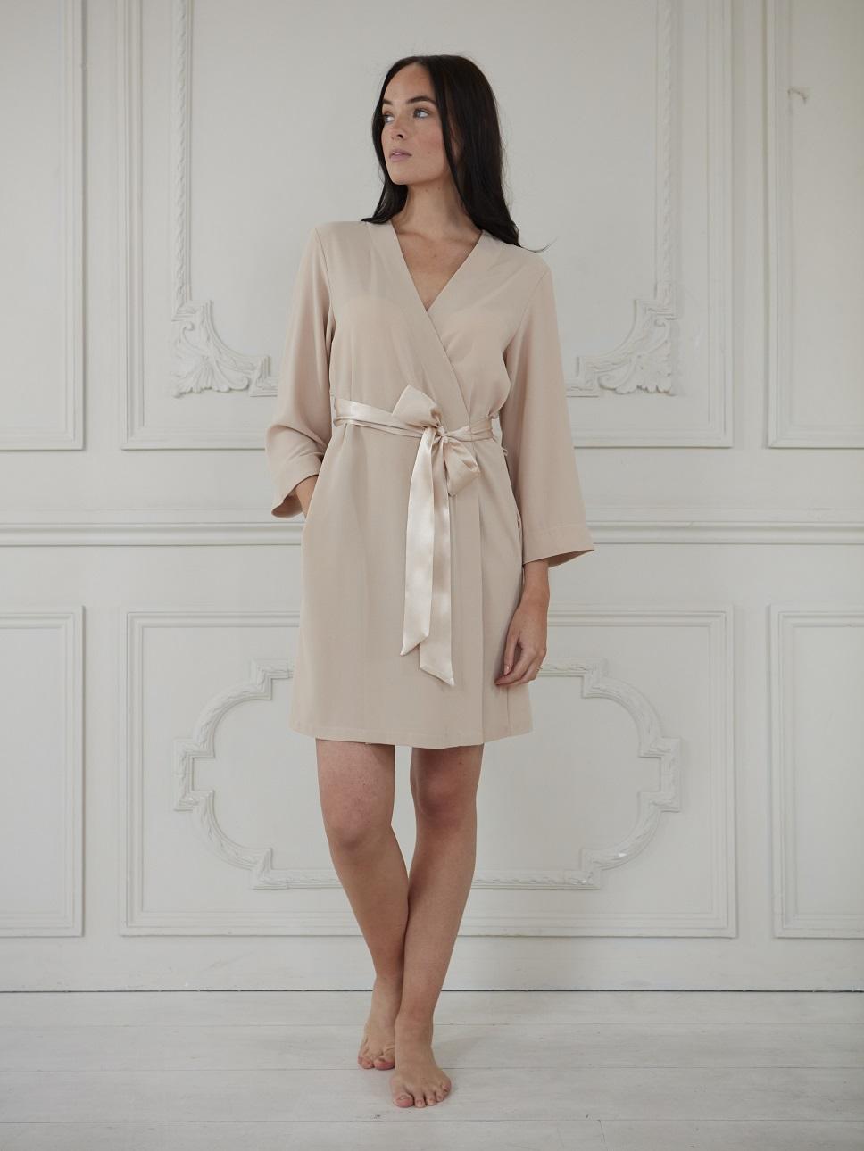 Nude luxury robe