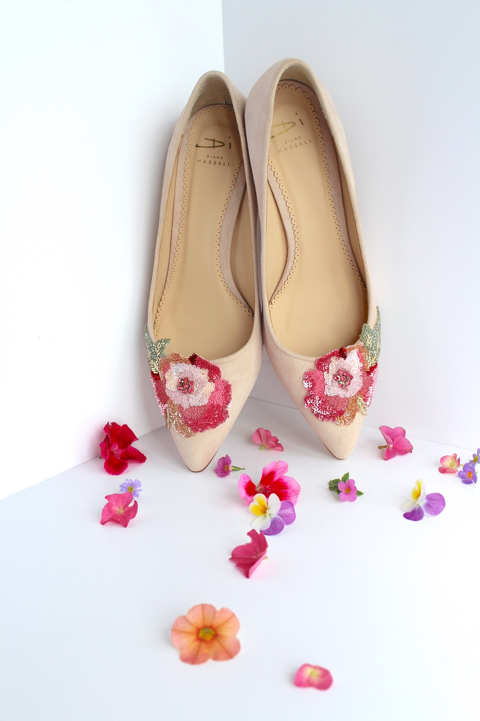 floral Diane Hassall shoes