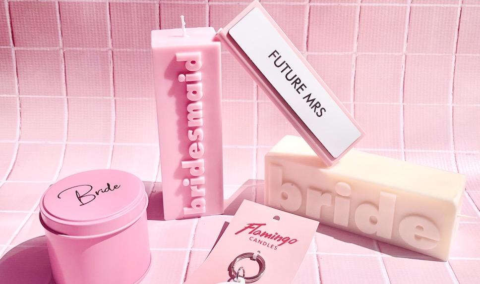 Flamingo Candles